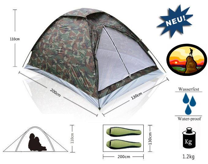 Militär Outdoor Camping Zelt für 2 Personen Openair, Camping, Jäger, Angler Sport & Outdoor