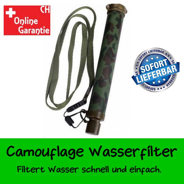 Militär Wasserfilter Wasser Filter Fluss See Wandern Outdoor Draussen Ferien Camping Sport & Outdoor
