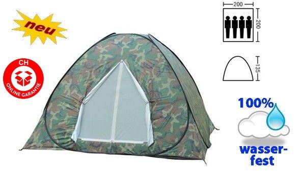 Militär Wurfzelt Schnellzelt Zelt Openair 3 Personen 2 Sekunden aufgebaut Openair Festival Jagd Sonstige