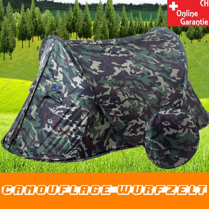 Militär Zelt Tarnung Pop-up Zelt Wurfzelt Camouflage Campingzelt 2 Personen Tarnzelt kleines Packmass Sport & Outdoor