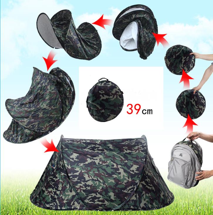 Militär Zelt Tarnung Pop-up Zelt Wurfzelt Camouflage Campingzelt 2 Personen Tarnzelt kleines Packmass Sport & Outdoor 2