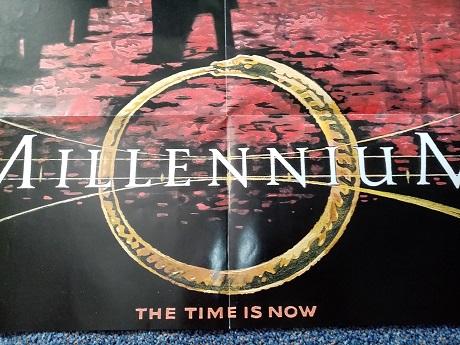 Millennium Plakat Orginal A1  signiert Laschet Sammeln