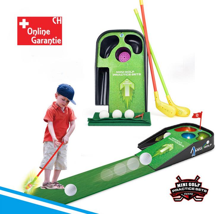 Mini Golf Spielset für Kinder Minigolf Spielzeug Lichteffekte Sound Indoor Zuhause Kind Spielzeuge & Basteln