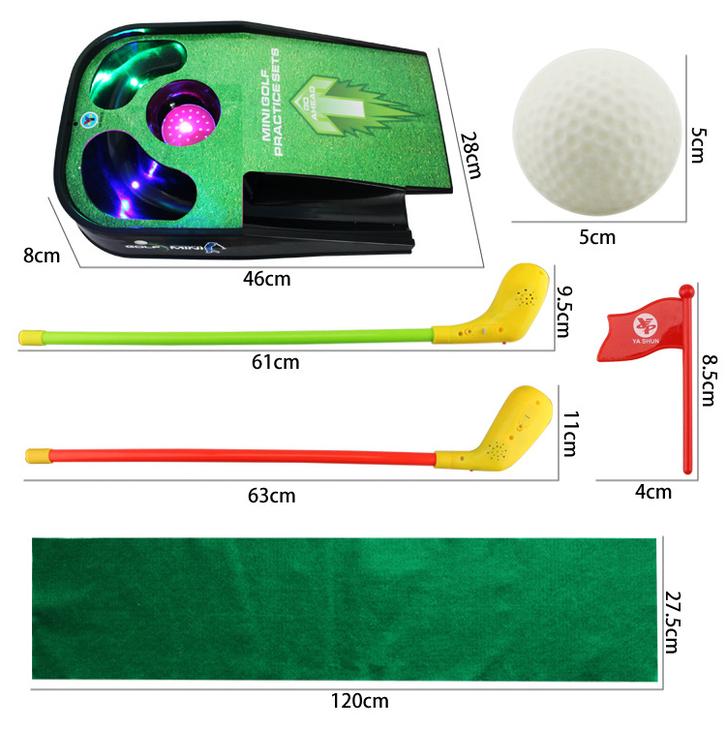 Mini Golf Spielset für Kinder Minigolf Spielzeug Lichteffekte Sound Indoor Zuhause Kind Spielzeuge & Basteln 2