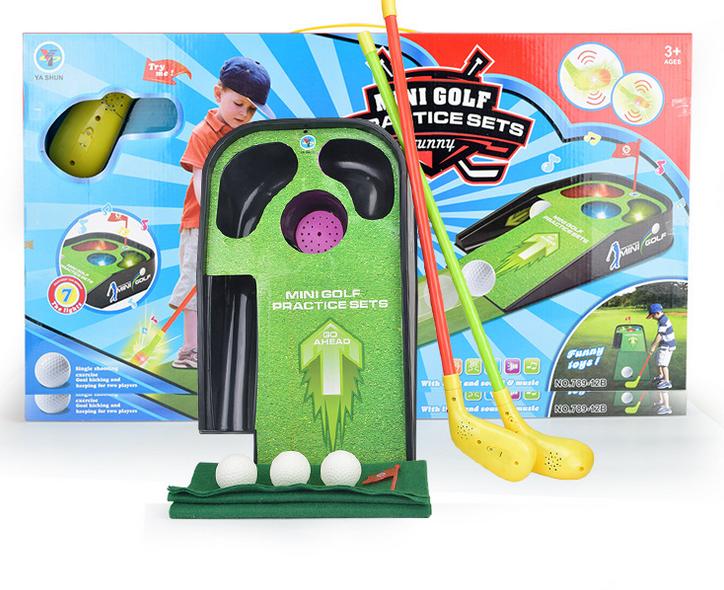 Mini Golf Spielset für Kinder Minigolf Spielzeug Lichteffekte Sound Indoor Zuhause Kind Spielzeuge & Basteln 3