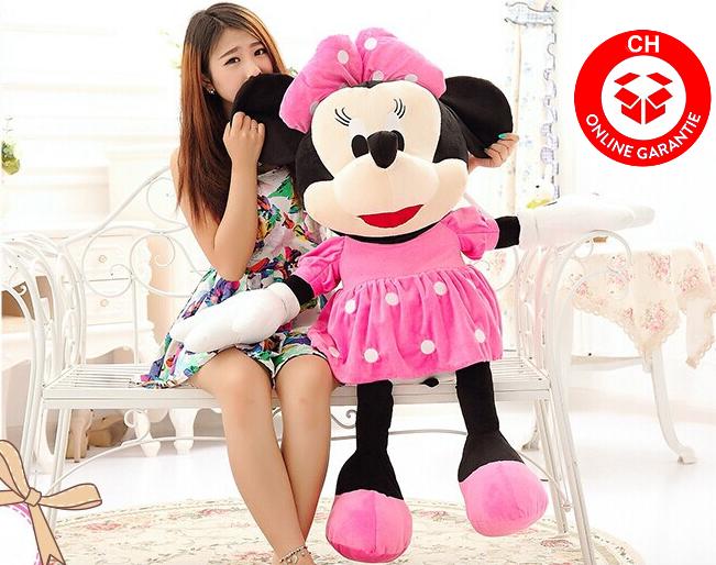 Minnie Maus grosse XXL Plüschfigur Disney aus Micky Maus Wunderhaus Plüschtier XXL ca. 130cm Geschenk Mädchen Kind