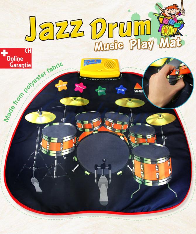 Musikdecke Spielzeug Matte Baby Kind Kleinkind Kinder Musik Instrument Jazz Drum Trommel Spielzeuge & Basteln