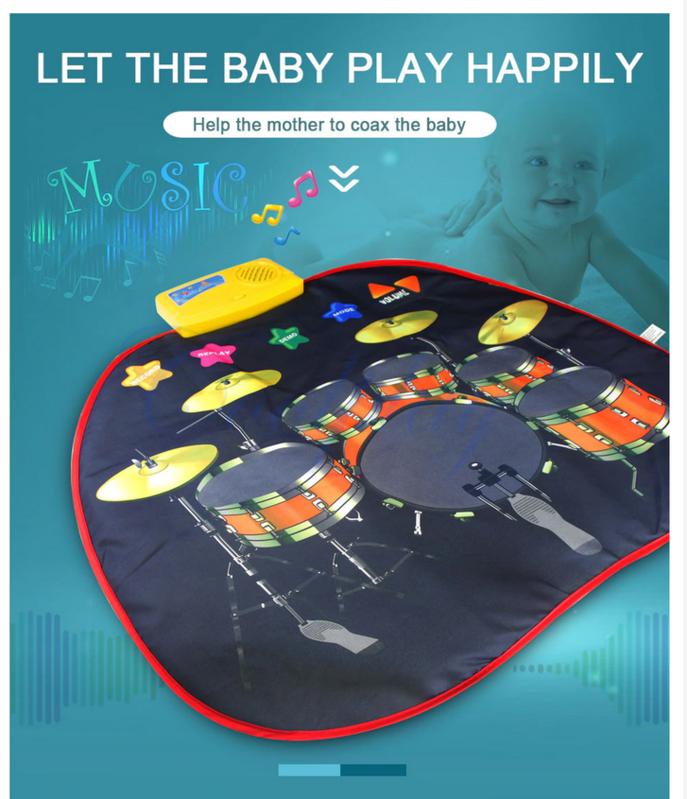 Musikdecke Spielzeug Matte Baby Kind Kleinkind Kinder Musik Instrument Jazz Drum Trommel Spielzeuge & Basteln 2