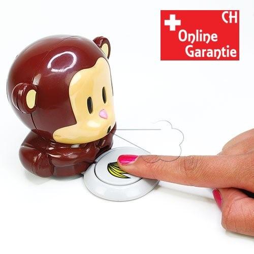 Nagellacktrockner Blow Monkey Affe Fingernägel Trockner Geschenk Idee für Frau Freundin Kleidung & Accessoires