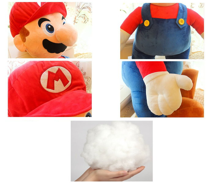 Nintendo Mario Jumbo Plüsch 100cm XXL Plüschtier Plüschfigur Super Mario Bros. Video Spiel Kult Klempner Rot Spielzeug Plüsch Sammeln 2