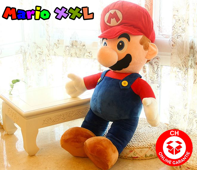 Nintendo Supermario XXL Plüschtier 100 cm 1m Mario Plüsch Figur NES SNES WII Switch Kult Spielzeuge & Basteln