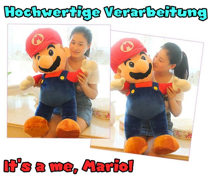 Nintendo Supermario XXL Plüschtier 100 cm 1m Mario Plüsch Figur NES SNES WII Switch Kult Spielzeuge & Basteln 2