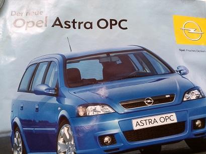 Opel Orginal Plakat  A1  Astra OPC Sammeln