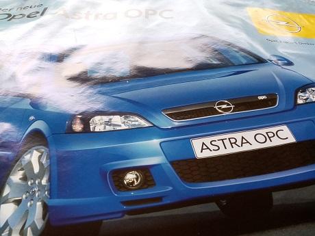 Opel Orginal Plakat  A1  Astra OPC Sammeln 2