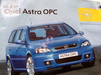 Opel Orginal Plakat  A1  Astra OPC Sammeln 3