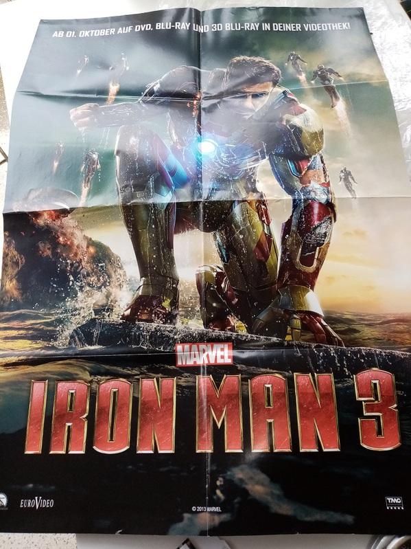 Orginal Disney Marvel Plakat A1 Iron Man Immobilien 3