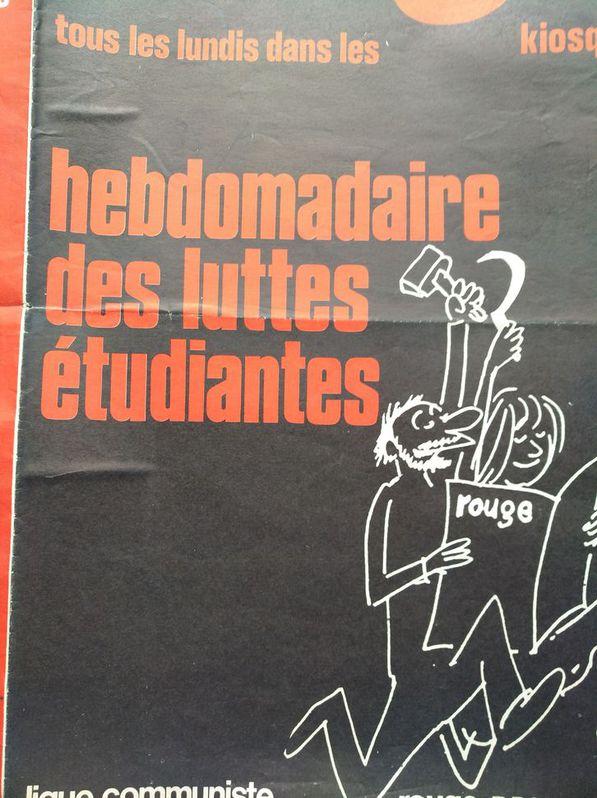 Orginal Plakat  A1  Ligue Communiste Revolutionnaire Sammeln