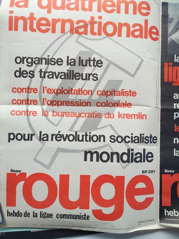 Orginal Plakat  A1  Ligue Communiste Revolutionnaire Sammeln 2