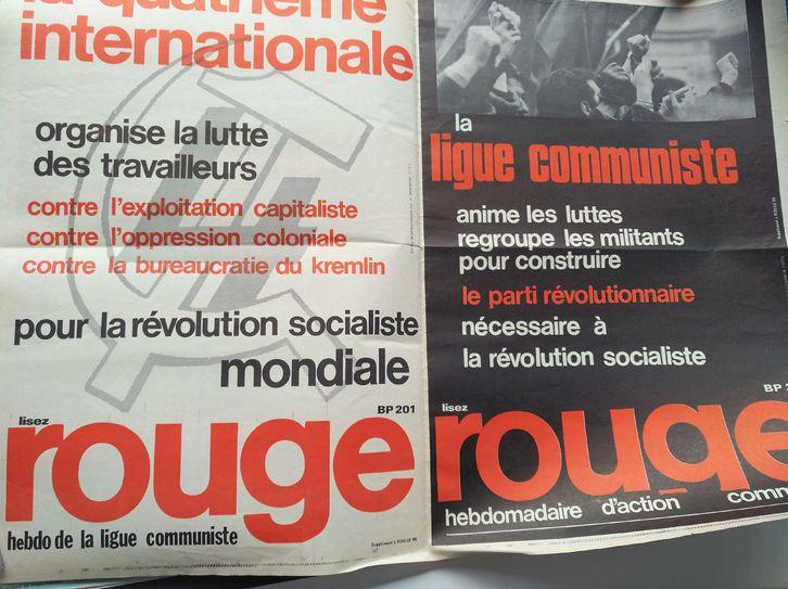 Orginal Plakat  A1  Ligue Communiste Revolutionnaire Sammeln 3