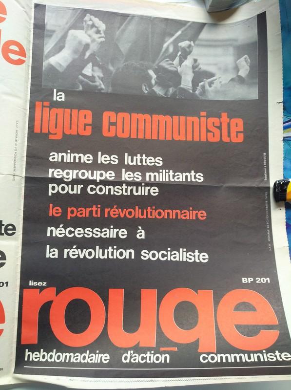 Orginal Plakat  A1  Ligue Communiste Revolutionnaire Sammeln 4