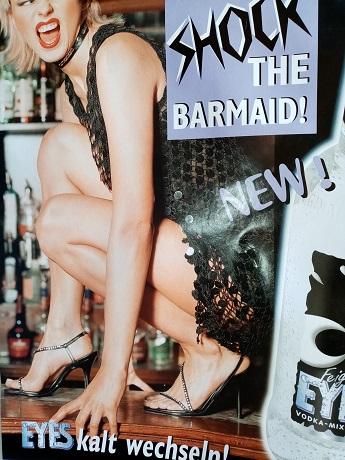 Orginal  Plakat eyes  Shock the barmaid Sammeln
