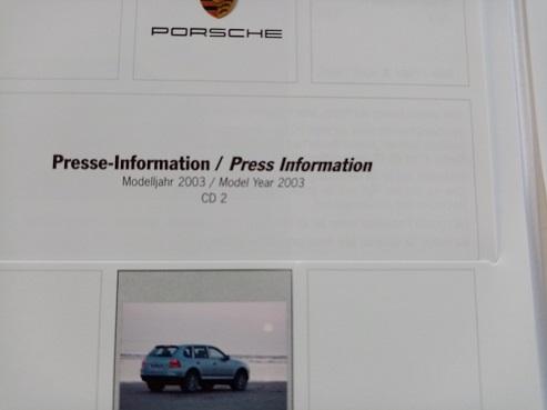 Orginal Porsche PresseBooklet Cayenne 1. Generation Sammeln 3