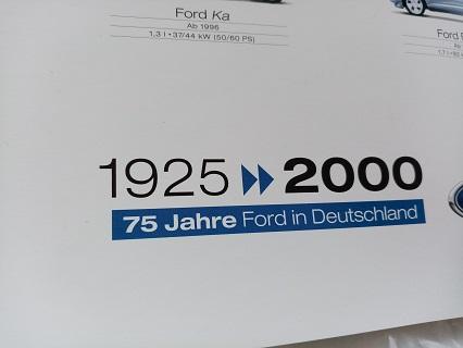 Orginal Werks Plakat Ford 2000 Sammeln 2