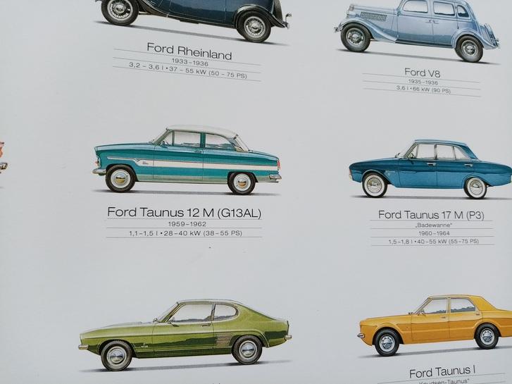 Orginal Werks Plakat Ford 2000 Sammeln 3