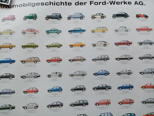 Orginal Werks Plakat Ford 2000 Sammeln 4