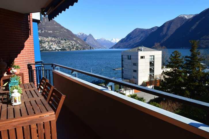 Paradiso, affittasi appartamento arredato, vista lago Haushalt
