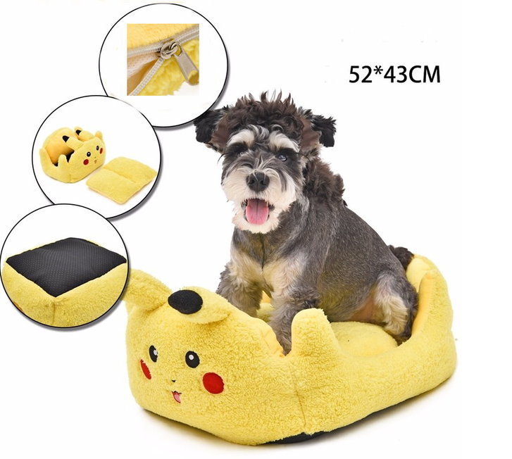 Pikachu Pokemon Katze Katzenbett Hunde Bett Hundebett Plüsch Herzig Süss Tiere 2