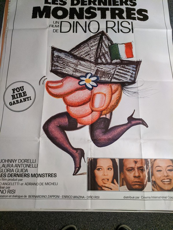 Plakat 1982  CH Großformat LES DERNIERS MONSTERS Antiquitaeten