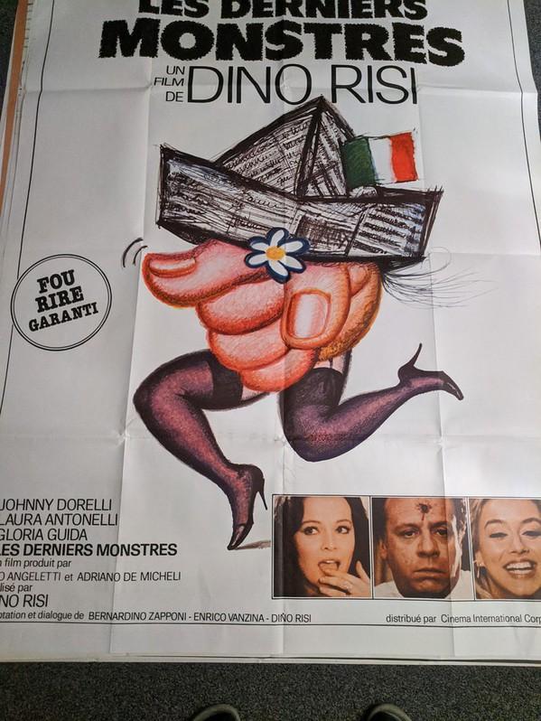 Plakat 1982  CH Großformat LES DERNIERS MONSTERS Antiquitaeten 3