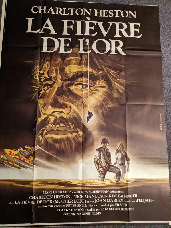 Plakat 1982 Heston Goldfieber Mother Lode Antiquitaeten