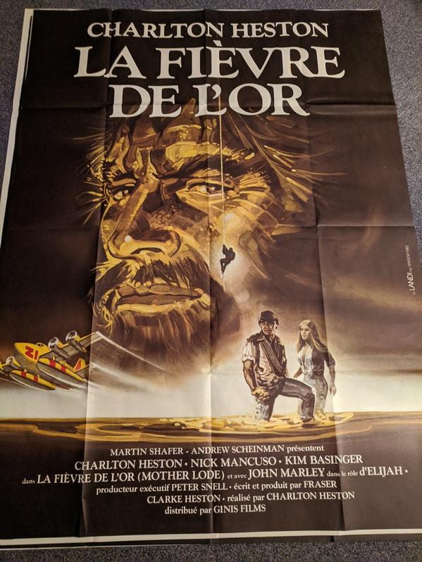 Plakat 1982 Heston Goldfieber Mother Lode Antiquitaeten 3