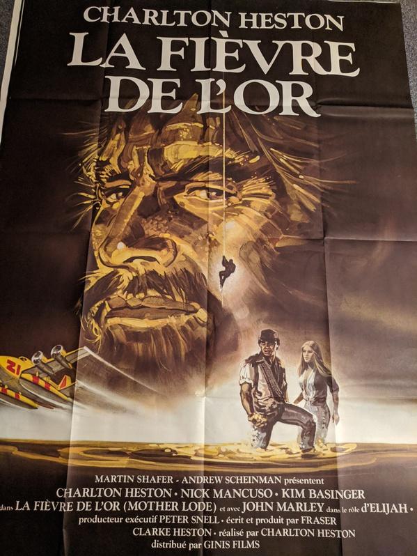 Plakat 1982 Heston Goldfieber Mother Lode Antiquitaeten 4