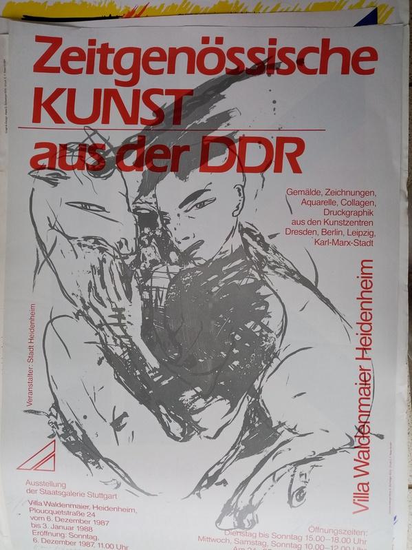 Plakat  1987  DDR zeitgenössische Maler im Westen Sammeln