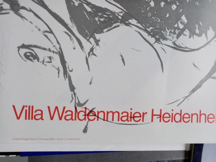 Plakat  1987  DDR zeitgenössische Maler im Westen Sammeln 3