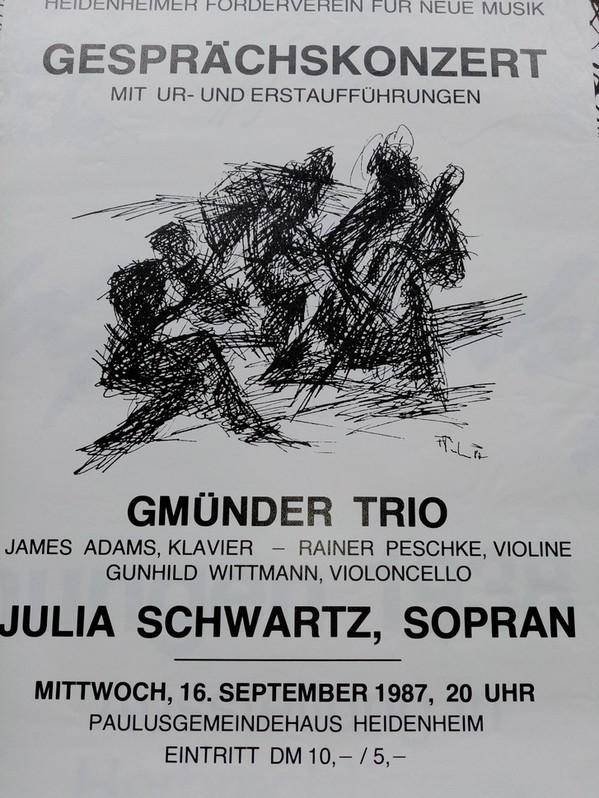 Plakat  1987 zeitgenössische Kunst  Heidenheim Sammeln 3