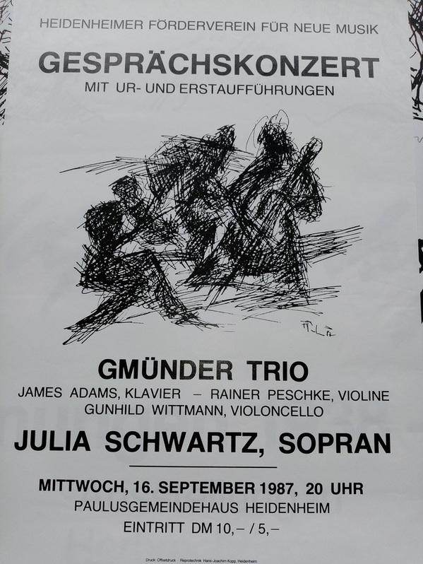 Plakat  1987 zeitgenössische Kunst  Heidenheim Sammeln 4