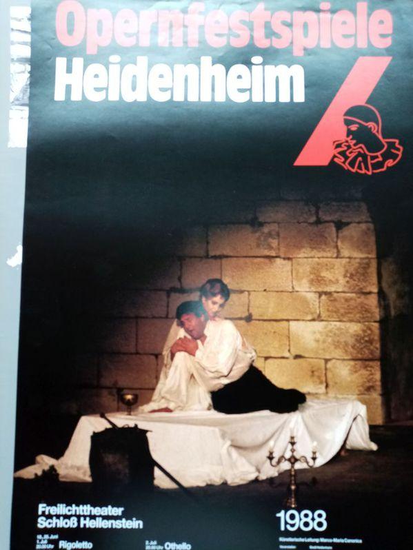 Plakat 1988 für Opern Fans Verdi in Heidenheim