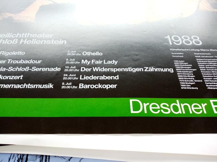 Plakat 1988 für Opern Fans Verdi in Heidenheim Sammeln 3