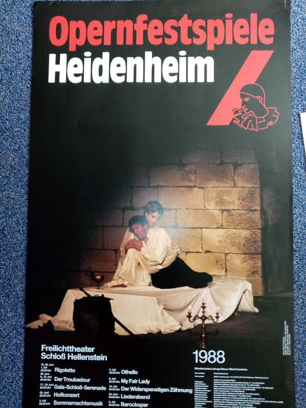 Plakat 1988 für Opern Fans Verdi in Heidenheim Sammeln 4