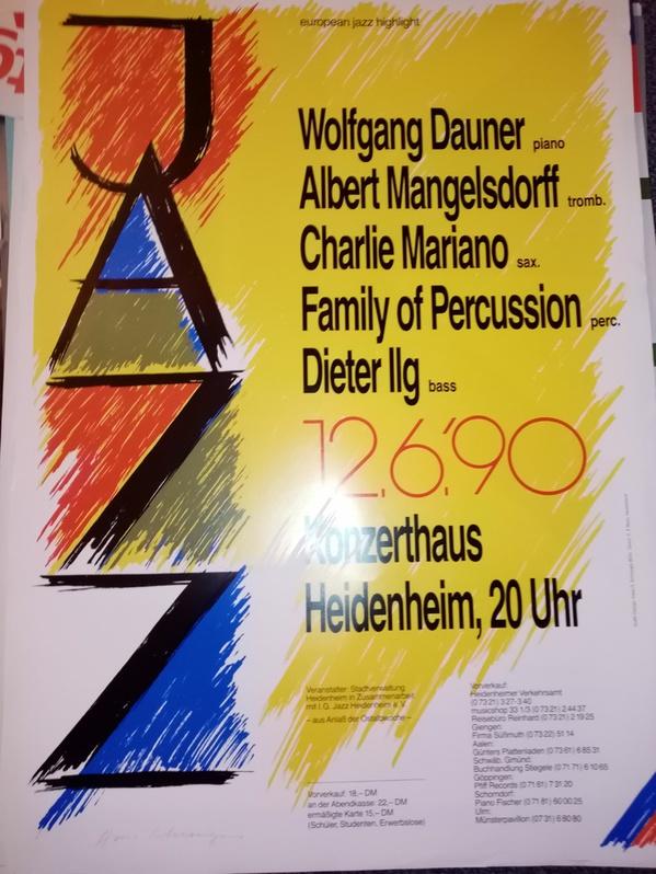 Plakat 1990  european jazz highlight Antiquitaeten