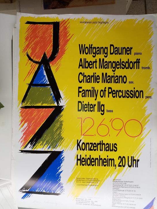 Plakat 1990  european jazz highlight Antiquitaeten 3