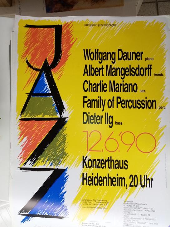 Plakat 1990  european jazz highlight Antiquitaeten 4
