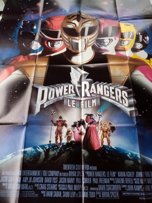 Plakat 1995 CH Großformat Power Rangers Sammeln 2