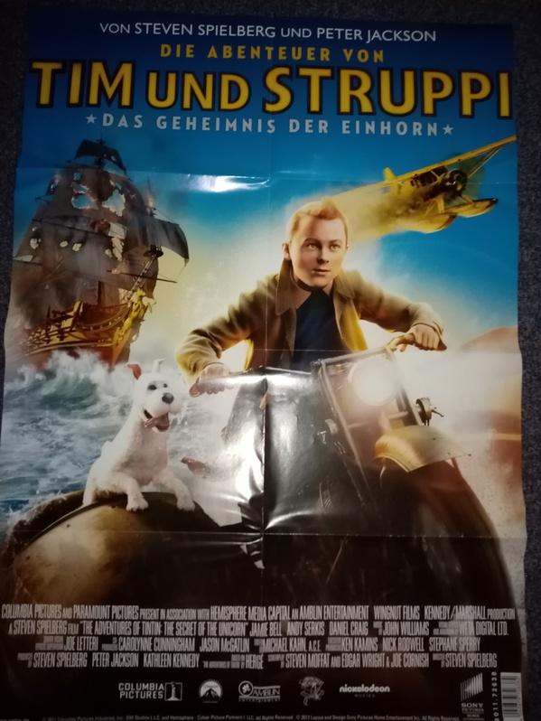 Plakat 2011 Spielberg Tim und Struppi Sammeln 3