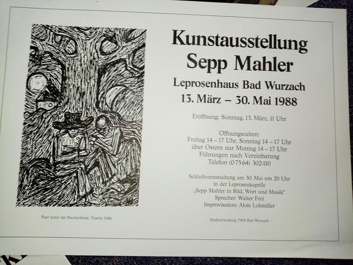 Plakat Sepp Mahler Bad Wurzach 88 Sammeln 2