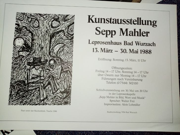 Plakat Sepp Mahler Bad Wurzach 88 Sammeln